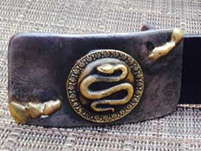 snake buckle closeup